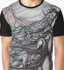 Unicorns in Sea Graphic T-Shirt