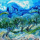 The Olive Groves where Vincent Walked by Alma Lee