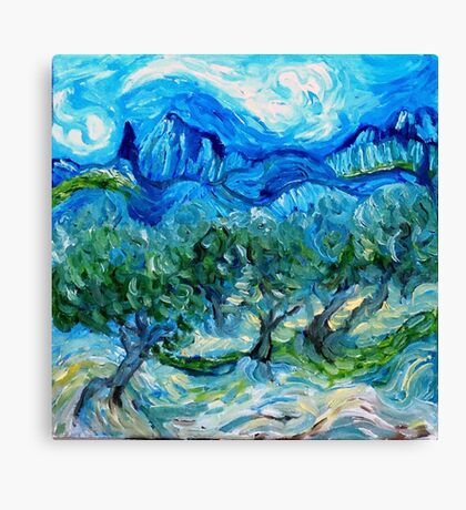 The Olive Groves where Vincent Walked Canvas Print