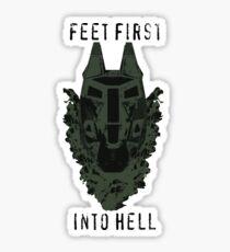 Feet First into Hell  Sticker