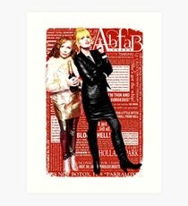 Absolutely Fabulous, Sweetie! Darling! Patsy and Edina. Ab Fab typography quotes. abfab. BBC Art Print