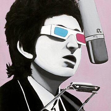 Bob's Perspective, Acrylic Painting, Bob Dylan by bennyisjamin