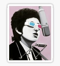 Bob's Perspective, Acrylic Painting, Bob Dylan Sticker