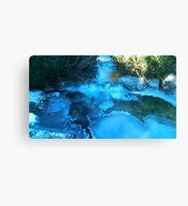Slovakia icy river Canvas Print
