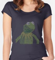 It's not easy, bein' Kermit Women's Fitted Scoop T-Shirt