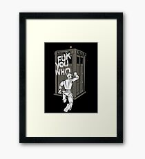 Dr Who 2 Framed Print
