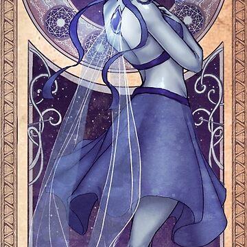 Lapis Lazuli Mucha by dreamerwhit95