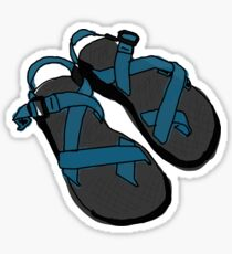 Drawing of Chaco Sandals- Blue Sticker