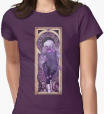 Amethyst Mucha Womens Fitted T-Shirt