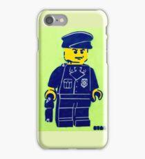 Lego Cop, Street Art, Spray Paint Stencil iPhone Case/Skin