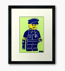 Lego Cop, Street Art, Spray Paint Stencil Framed Print