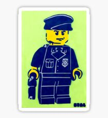 Lego Cop, Street Art, Spray Paint Stencil Sticker