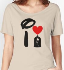 I Heart Beauty and The Beast Women's Relaxed Fit T-Shirt
