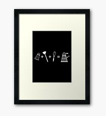 Exterminate Who Framed Print