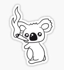 pothead weed hemp cannabis joint weed smoke pot high drug koala Sticker