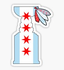 Stanley Cup Feathers- Chicago Theme Sticker