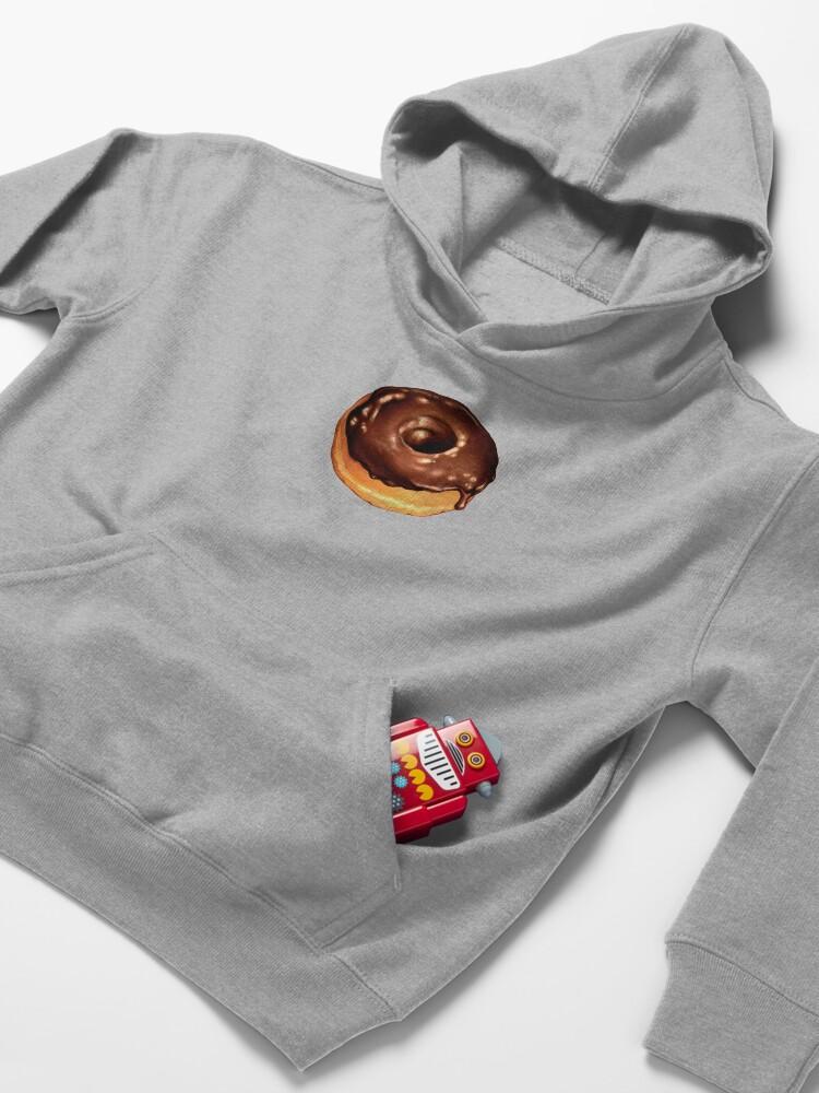 Alternate view of Chocolate Donut Pattern - Pink Kids Pullover Hoodie