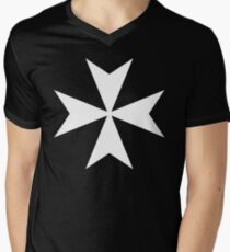 Cross of the Knights Hospitaller Men's V-Neck T-Shirt