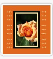 Blushing Orange Rose Sticker