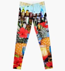 Tropical colourful cocktails Leggings