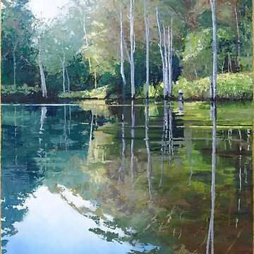 "Original Painting: ""Moments of Reflection"" - Maroochy Bushland Botanic Gardens, Tanawha, QLD, Australia by MartinLome"