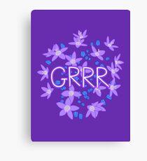 Grrr - Purple Flowers Explosion Canvas Print