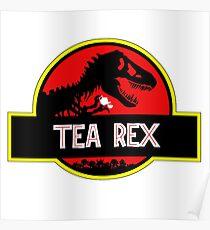 Tea Rex Coffee Relax Poster