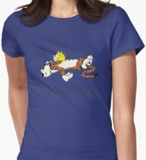 Calvin And Hobbes Quote Womens Fitted T-Shirt
