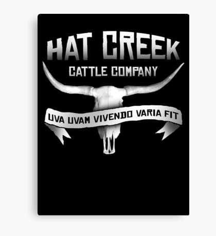 Hat Creek Cattle Company Canvas Print