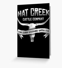 Hat Creek Cattle Company Greeting Card