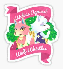 Wolves Against Wolf Whistles Sticker