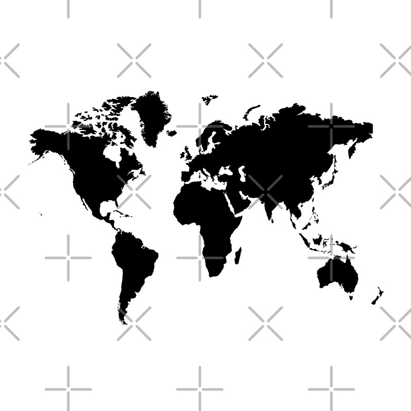 Cojines black and white world map de haroulita redbubble black and white world map gumiabroncs Image collections