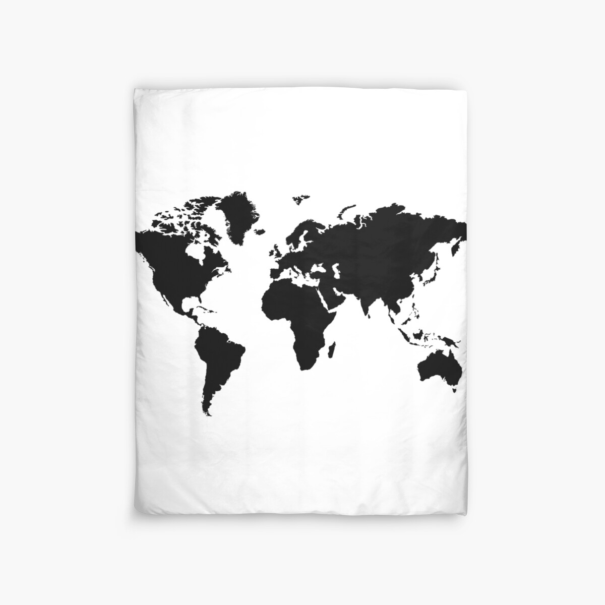 Black and white world map duvet covers by haroulita redbubble black and white world map by haroulita gumiabroncs Images