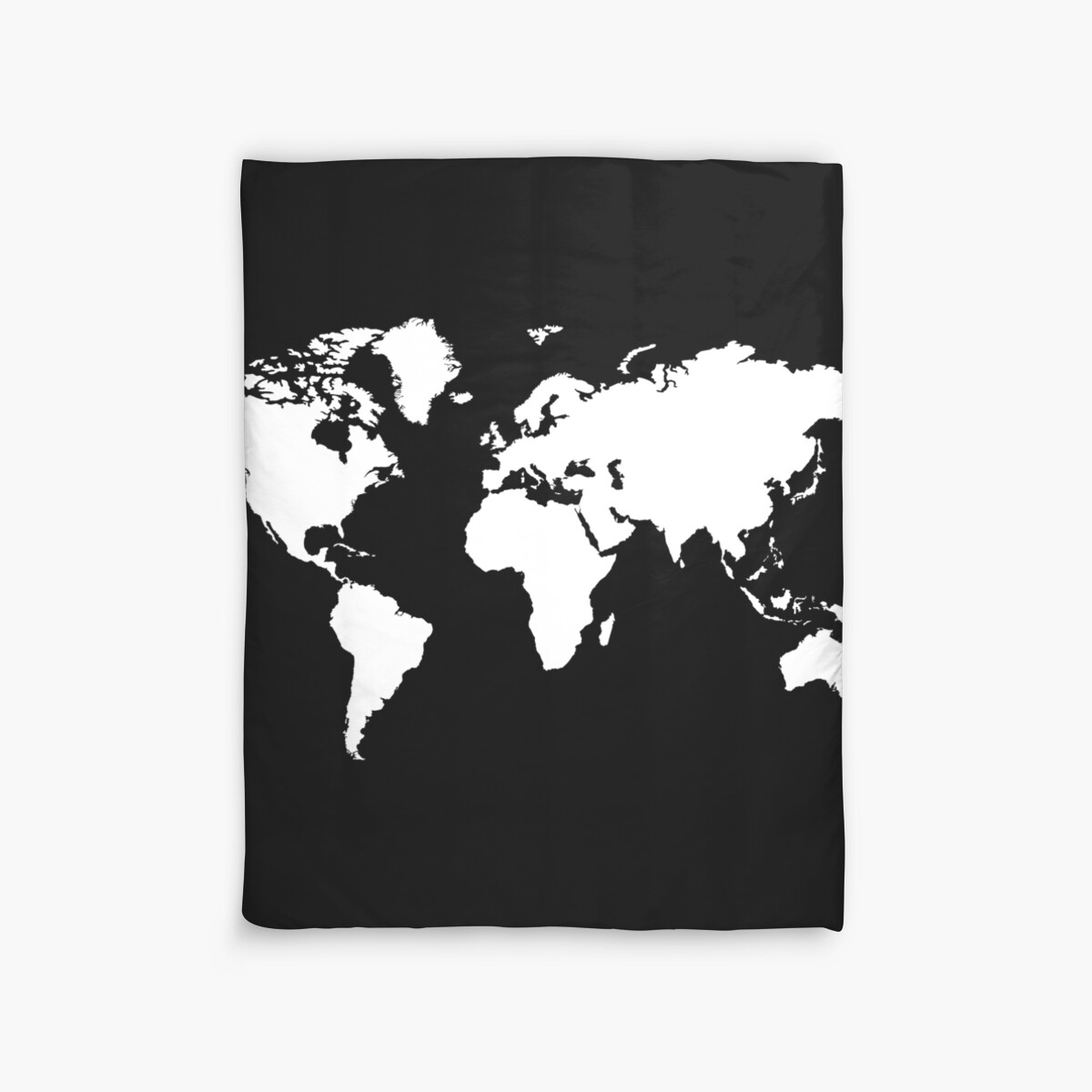 Black and white world map duvet covers by haroulita redbubble black and white world map by haroulita gumiabroncs Gallery