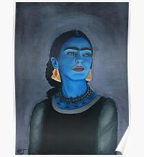 Blue Frida Poster
