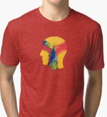 Camiseta de tejido mixto Se siente como si sólo retrocediéramos