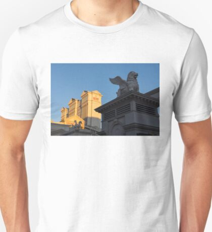 Shadow and Light - Las Vegas Sunrise with a Winged Lion at Caesars Palace T-Shirt