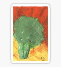 Stressed Broccoli Sticker