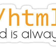 </html> Sticker