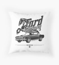 Ford Mustang 1967 Throw Pillow
