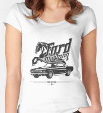 Ford Mustang 1967 Women's Fitted Scoop T-Shirt