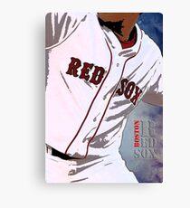 Boston Red Sox Baseball, Typography Canvas Print