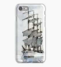 Henry Scott Tuke, Four Masted Barque, iPhone Case/Skin