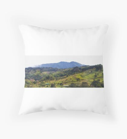 How green was my Costa Rican valley Throw Pillow