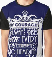 Camiseta gráfica Cita de Jane Austen - Mi coraje siempre aumenta con cada intento de intimidarme