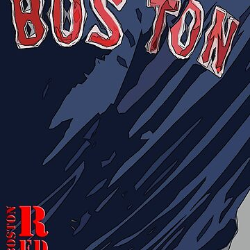 Boston Red Sox Original Typography Blue shirt by drawspots