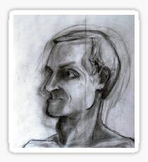 Human figure study nr2, 90-95cm, charcoal Sticker