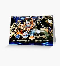 Under The Hood Abstract Greeting Card