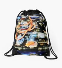 Under The Hood Abstract Drawstring Bag