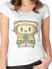 Cute Robot Women's Fitted Scoop T-Shirt